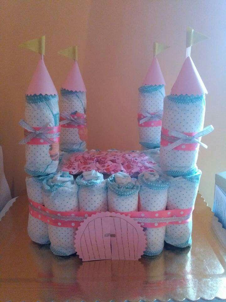 Famoso Oltre 25 fantastiche idee su Torte di pannolini castello su  SJ26