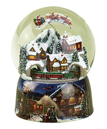 Another great find on #zulily! Santa's North Pole Toy Shop Rotating Music Globe #zulilyfinds