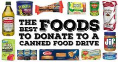 This Is What Food Banks Actually Need--good guide for our yearly donation.