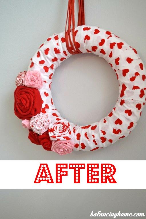 valentines day wreath tutorial