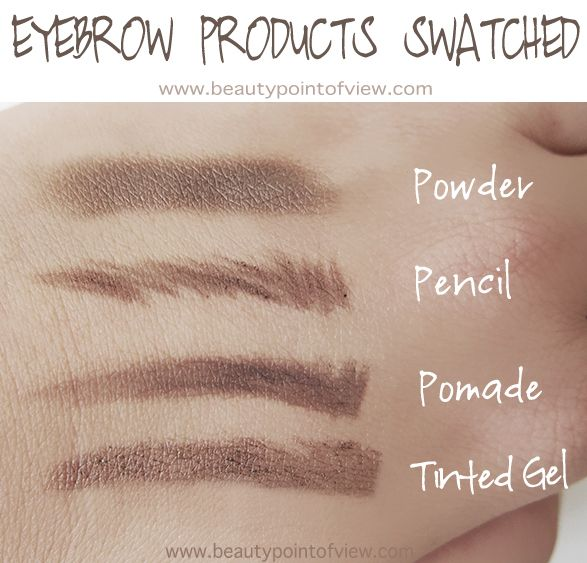 Powder: MAC Brow Shader in Porcelain/Browning; Pencil: Anastasia Beverly Hills Brow Wiz in Brunette; Pomade: Tarte Brow Mousse in Rich Brown;  Tinted Gel: Anastasia Beverly Hills Tinted Brow Gel in Granite