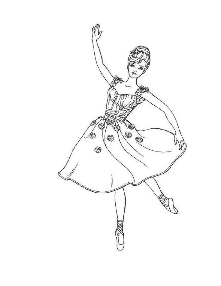 Ballerina Coloring Pages | Ballerina coloring pages ...