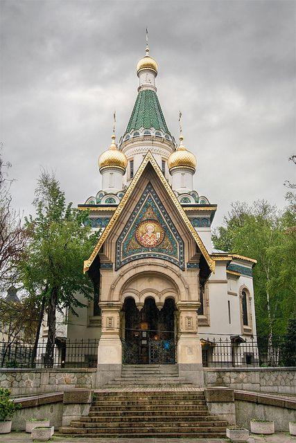 Russain Church (Church of St Nicholas), Sofia, Bulgaria by pas le matin, via Flickr