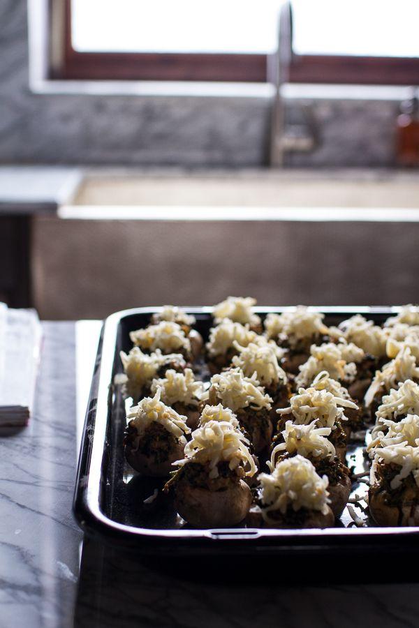 Spicy Fontina Spinach, Artichoke and Chorizo Stuffed Mushrooms ...