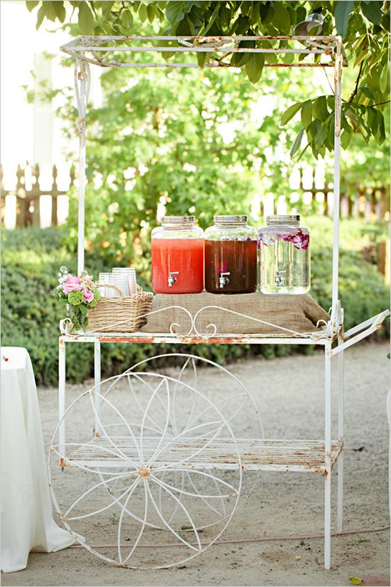 vintage drink cart for water and icea tea