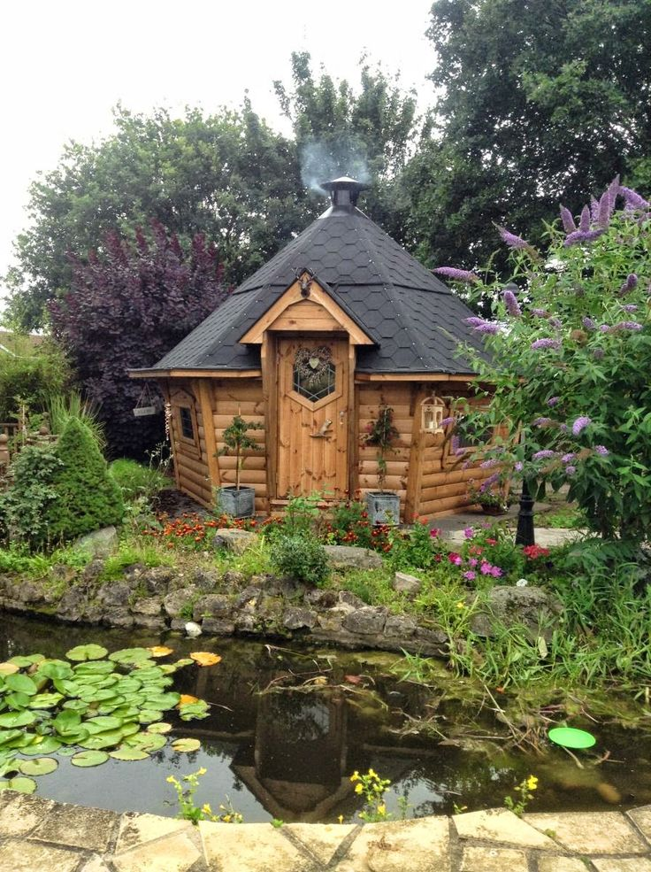 Barbecues on! And what a fantastic location behind the pond. Gallery of BBQ Cabins and Huts - Arctic Cabins