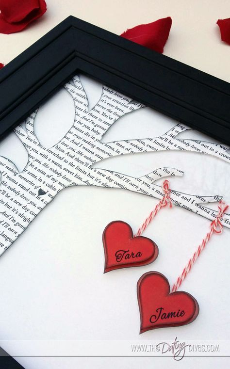 Such a fun way to display your love song and a great personalized gift. (free template)