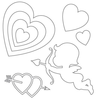 Free Valentine's Day printables, including these Printable Heart, Cupid, and Arrow Patterns #printables #free