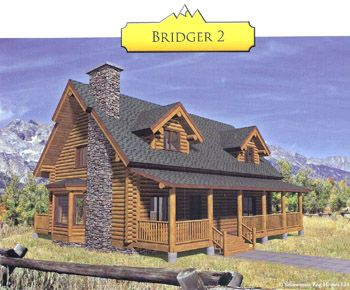 Bridger 2 Swedish Cope Log Home Kit for sale