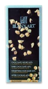 Blanxart 100g. Ciocolata neagra cu nuci Macadamia