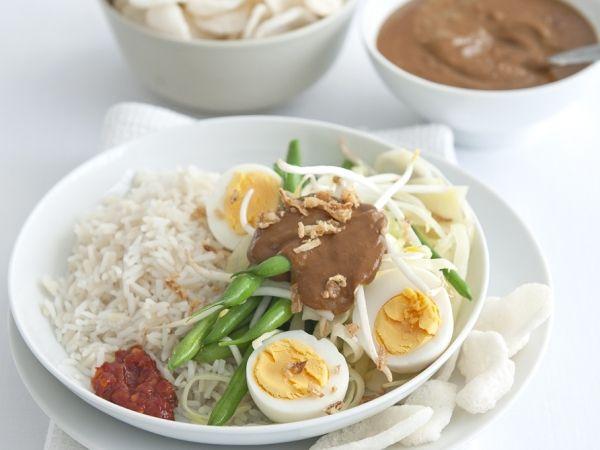 Gado gado met rijst - Indonesisch | Weekmenu