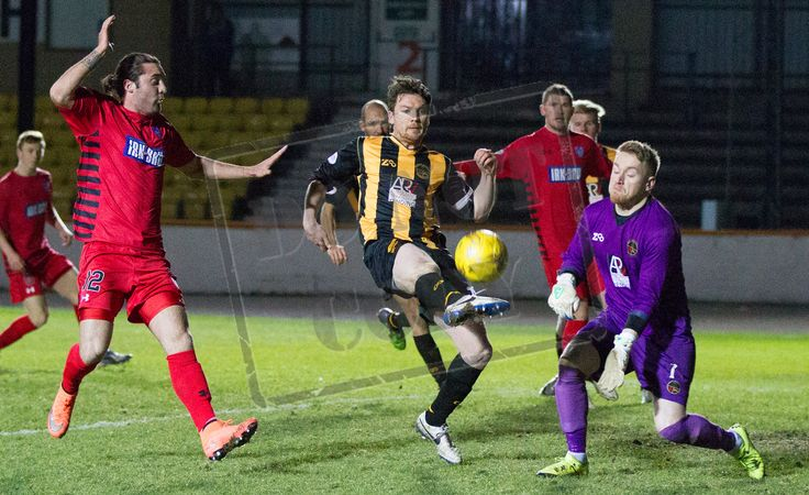 Berwick Rangers' Jonny Fairborn clears the ball during the SPFL League Two game between Berwick Rangers and Queen's Park.
