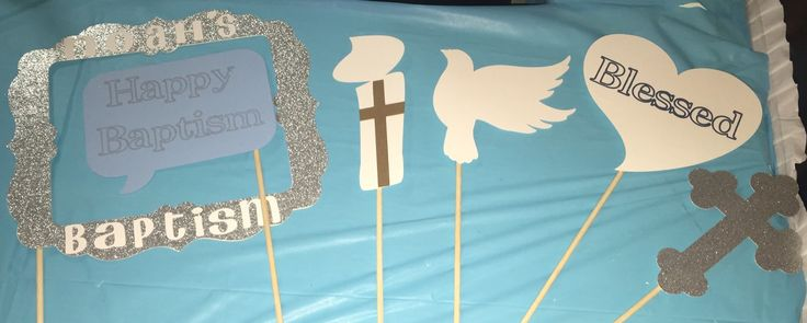 Baptism - Christening - First Communion photo booth props by JCBelleCreations on Etsy