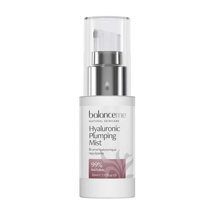 #Balance Me Hyaluronic Plumping Mist 30ml 0092525 #Balance Mes Hyaluronic Plumping Mist is an instant shot of hydration and calm for your skin. Containing a totally natural form of Hyaluronic Acid - Hyacare 50, it really is a brilliant example of where cutting-edge science meets powerful botanicals. Hyacare 50 is derived from a probiotic and boasts anti-oxidant properties which penetrate deeply into all layers of the skin, leaving it looking and feeling plumped and calm. Chamomile water provides