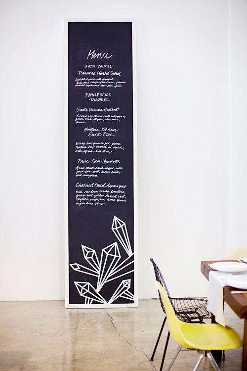 jeanette & justin wedding via design*sponge ~ love this menu idea!