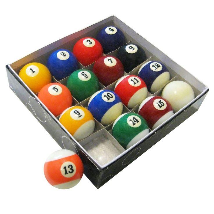 Hathaway Pool Table Regulation Billiard Ball Set, Multicolor