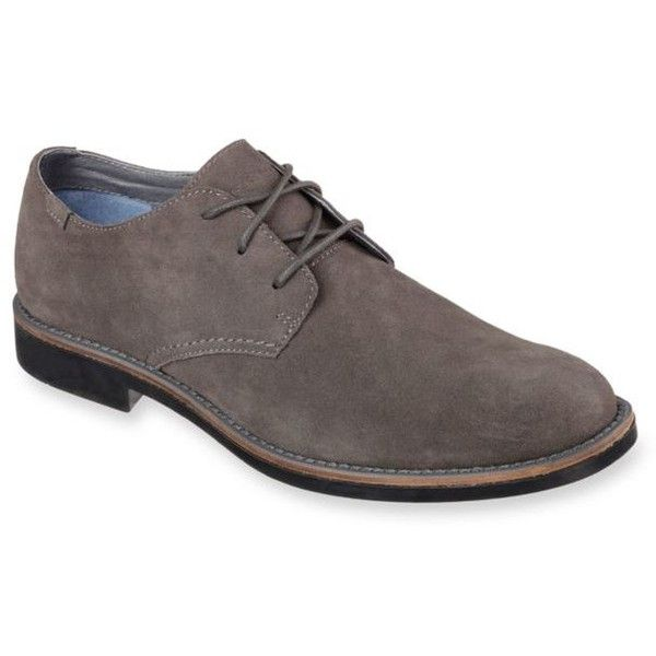 Skechers Gray Coley Lace-Up Dress Shoe ($80) ❤ liked on Polyvore featuring men's fashion, men's shoes, men's dress shoes, grey, skechers mens shoes, mens grey shoes, mens dress shoes, grey mens dress shoes and mens dress loafers shoes