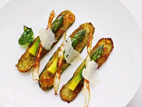 Panierte Zucchini mit Spargel ist ein Rezept mit frischen Zutaten aus der Kategorie Blütengemüse. Probieren Sie dieses und weitere Rezepte von EAT SMARTER!