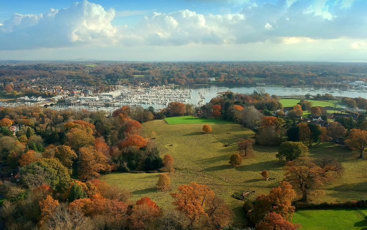 River Hamble from Burseldon — in Sholing, Southampton, United Kingdom.