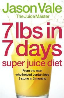 Lose up to 7lbs in 7 days with The Juice Master Jason Vale's ultra-fast 1-week super juice cleanse. The man who helped Jordan to get her post-baby body back has designed a healthy and effective diet and exercise programme to reshape your body in just one week, but with lasting results.The one-week super juice diet with fast, body-transforming results from the UK's leading health coach and seminar leader Jason Vale – aka The Juice Master.