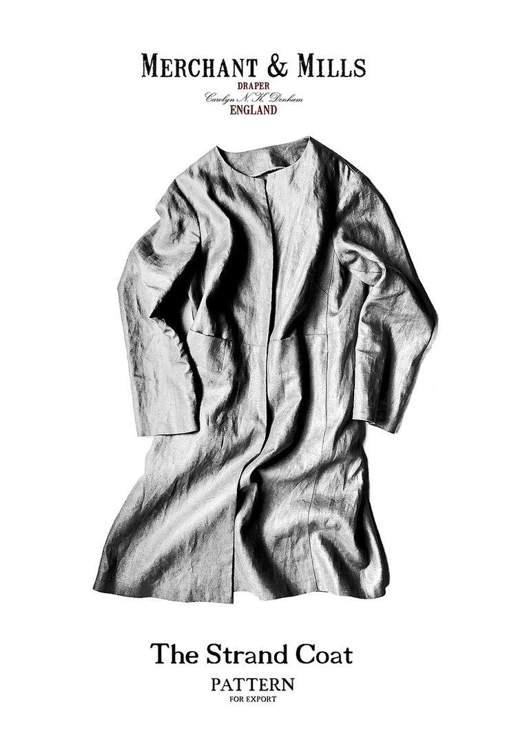COMERCIANTE y molinos • El patrón de la capa de coser Strand - La hija del Draper