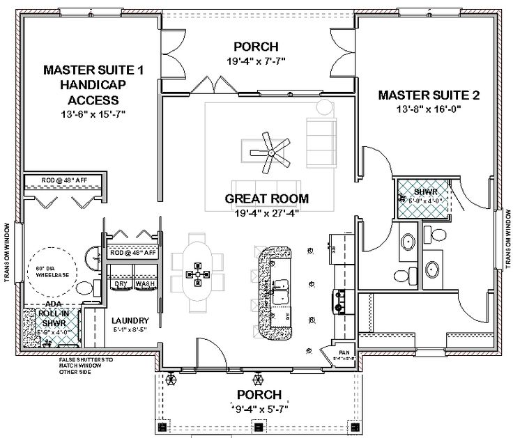 Best 25 handicap accessible home ideas on pinterest for Handicap accessible house plans