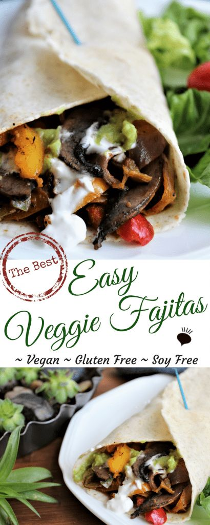 Vegetarian fajitas are so quick, easy, and delicious, they will soon be put into your family's weekly meal rotations. Easily made gluten free, soy free, and dairy free. Packed with nutritious veggies and filled with all of your favorite toppings! thehiddenveggies.com