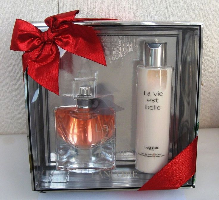 Lancome La Vie Est Belle Set - Eau De Parfum Spray 50ml & Body Lotion 200ml NEW