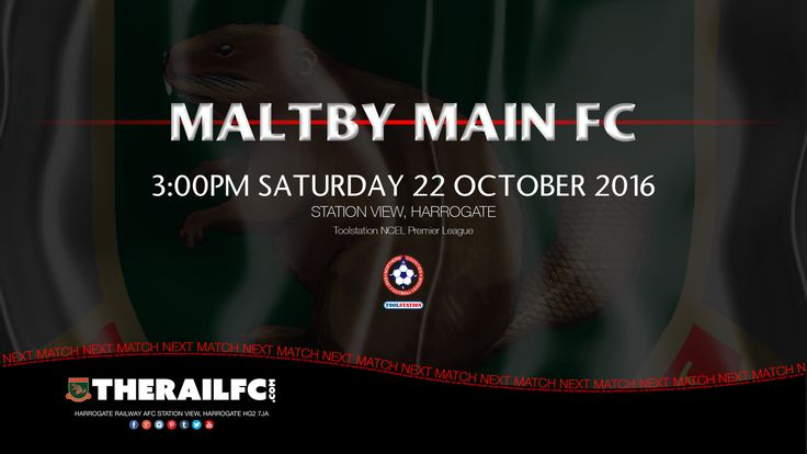 Next Match: Harrogate Railway v Maltby Main    @therailfc @MainMaltby @Howell_rm @Edwhite2507