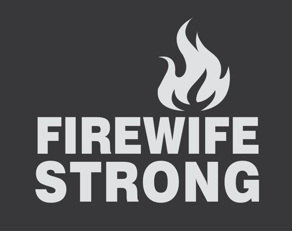 Firefighter Wife Vinyl Decal 7.5in. x 6.25in. by ElevationDesign, $13.00