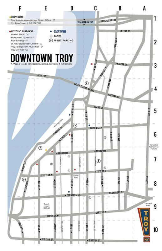 Troy Music Hall Map and Directions (New York)