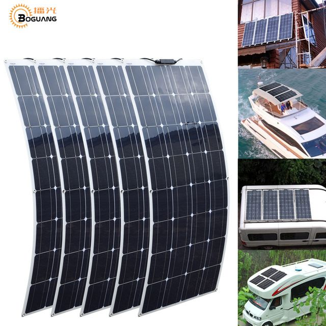 2pcs 4pcs 10pcs 100w Solar Panel Monocrystalline Solar Cell Flexible For Car Yacht Steamship 12v 24 Volt 100 Watt Sola Flexible Solar Panels Solar Panels Solar