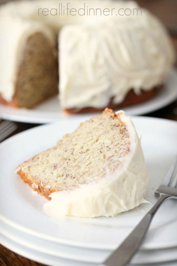 This Banana Bundt Cake Recipe is what dreams are made of. It truly is the BEST BANANA BUNDT CAKE EVER! You won