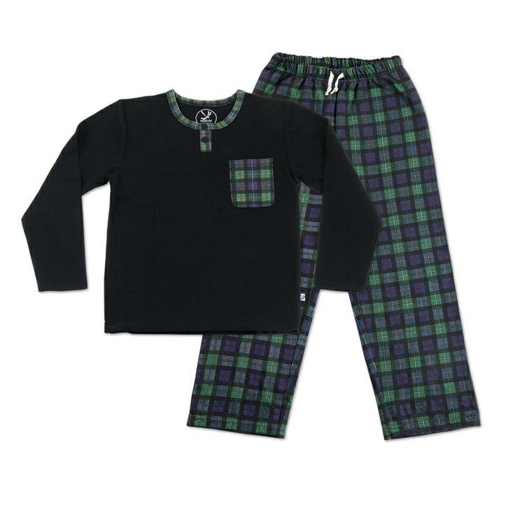 Pijama niño algodón peinado.