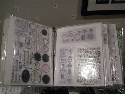 Crafty Storage - a catalogue holder from a office stores unmounted rubber stamps - many good ideas on this site!