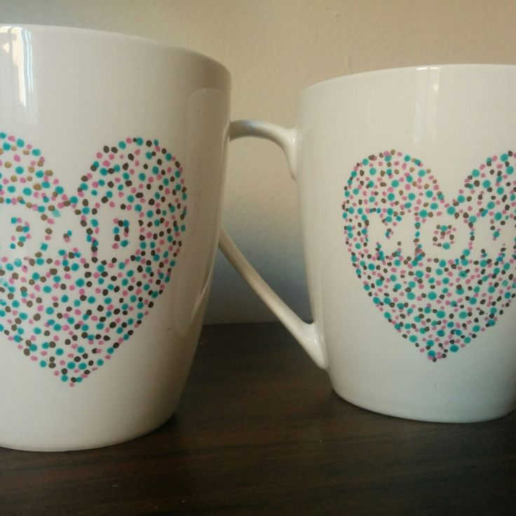 Just sent out my first two online orders today - a set of customized mom and dad mugs! :D  It's super exciting to get some activity going in my shop, and I plan on adding a few more listings soon!  Krys