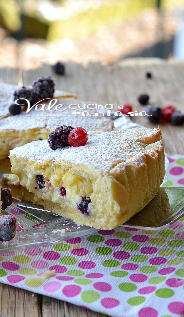 Crostata con mascarpone crema pasticcera e frutti di bosco