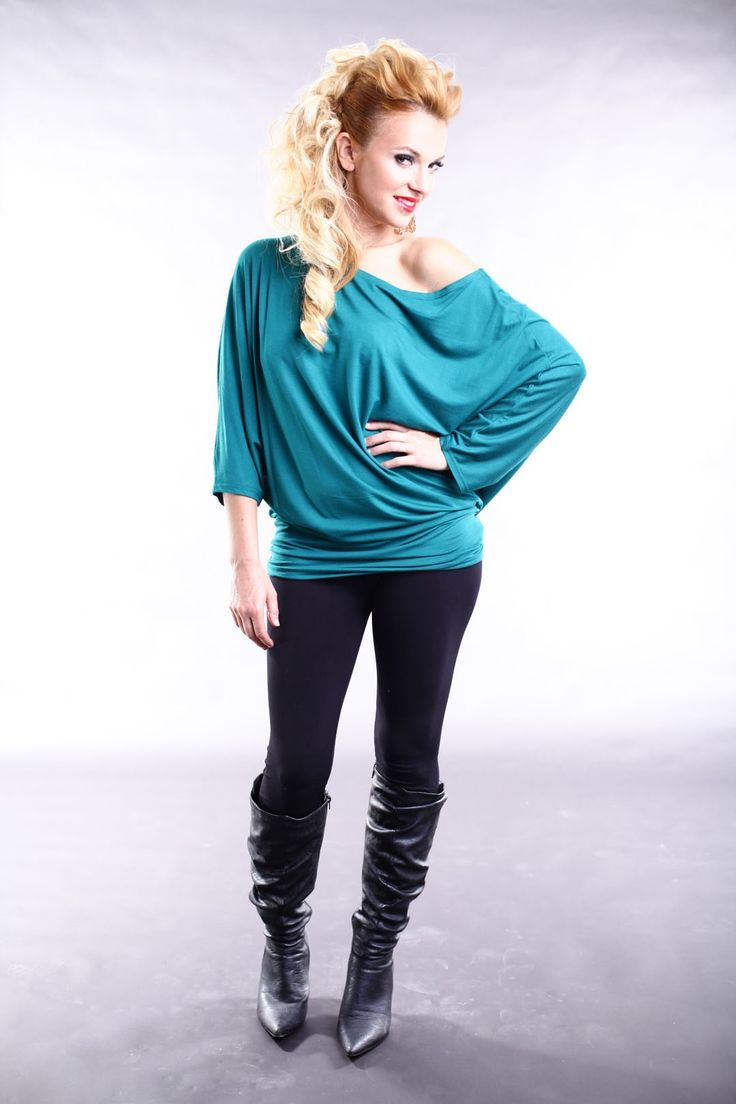 SUELLA TOP MANCHES ¾ - TEAL by Judy Design