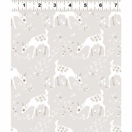 Y2066-62 Woodland Gathering Deer on Grey