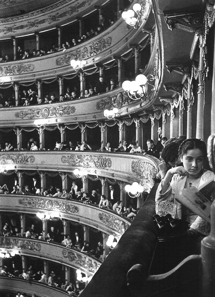 La Scala, Milan, 1932.( almost the same place i had for the only time i was to the scala ..magic. )