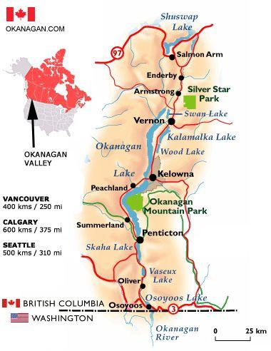 Okanagan Valley Map