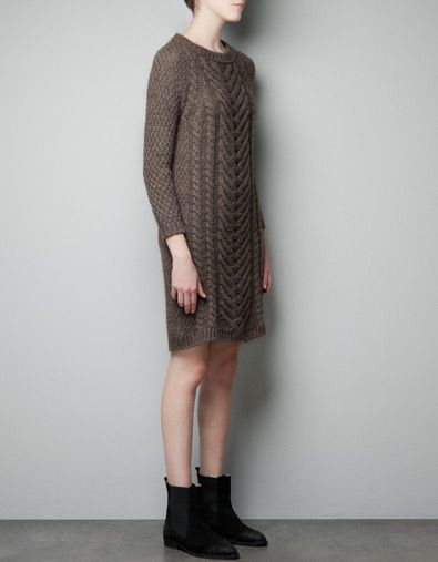 ARAN KNIT DRESS Fashion Inspiration Pinterest