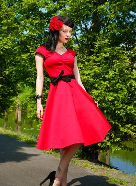 The Notorious dress red by Hotrod Hussy Rockabilly vintage style dress