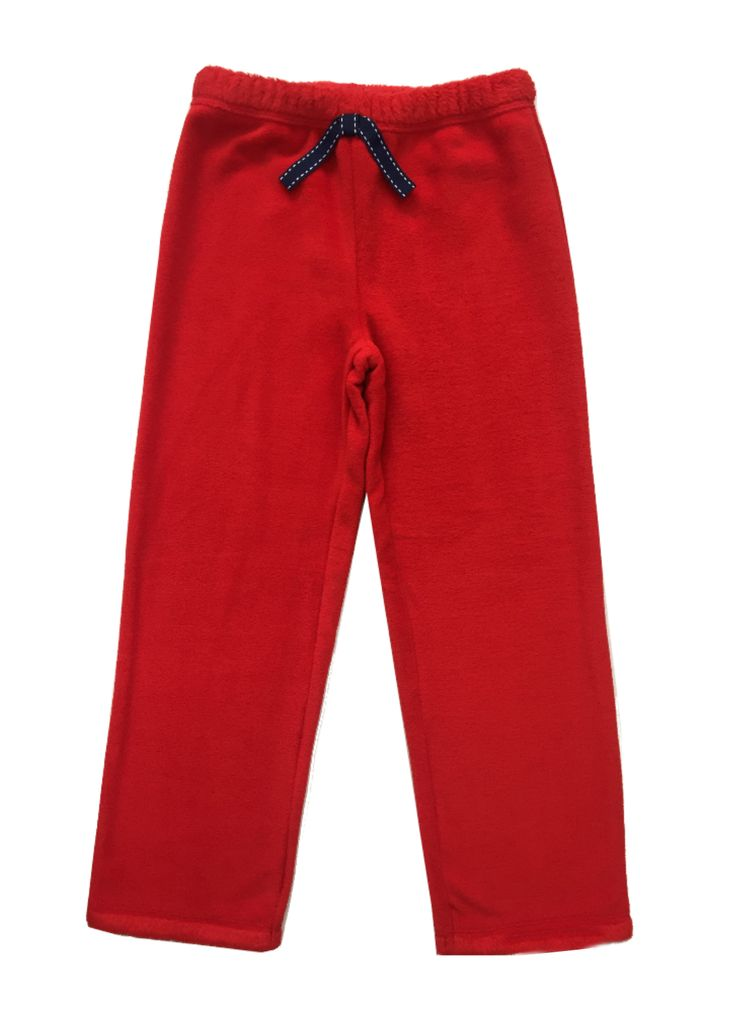 Girl's Solid Red Fur Pants