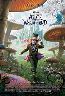 Tim Burtons Alice in Wonderland. I LOVE this movie. The Dormouse Mallymkun is my favorite character.