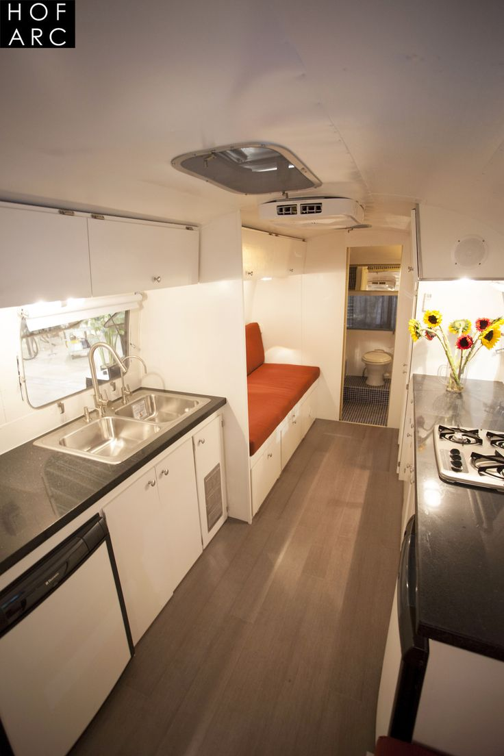 Airstream interior kitchen glamorous airstream ranch house hofmann architecture ca
