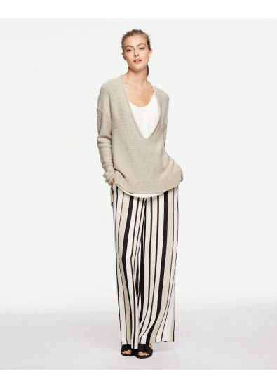 Deep V-Neck Sequin Sweater and Allen Pant