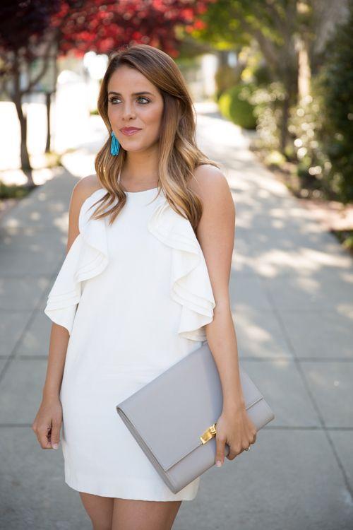 Vestido branco de festa