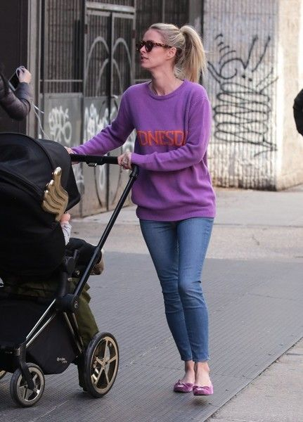Nicky Hilton Embellished Flats - Nicky Hilton added an extra pop of purple with a pair of bow-adorned ballet flats.