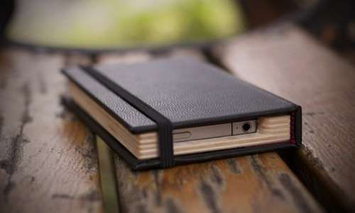 Moleskin iPhone case! That's awesome!